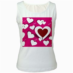 Valentine Hearts  Women s Tank Top (White)