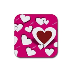 Valentine Hearts  Drink Coasters 4 Pack (Square)