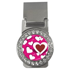 Valentine Hearts  Money Clip (CZ)