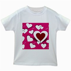 Valentine Hearts  Kids T Shirt (white)