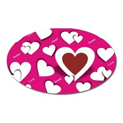 Valentine Hearts  Magnet (Oval)
