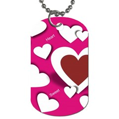 Valentine Hearts  Dog Tag (Two-sided)