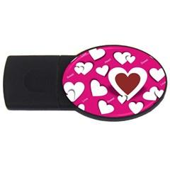 Valentine Hearts  2gb Usb Flash Drive (oval)