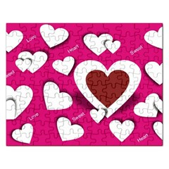 Valentine Hearts  Jigsaw Puzzle (Rectangle)