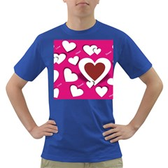 Valentine Hearts  Men s T-shirt (Colored)