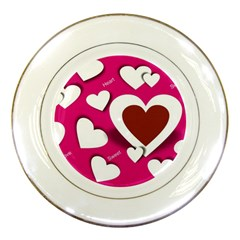 Valentine Hearts  Porcelain Display Plate