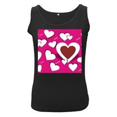 Valentine Hearts  Women s Tank Top (Black)