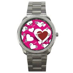 Valentine Hearts  Sport Metal Watch