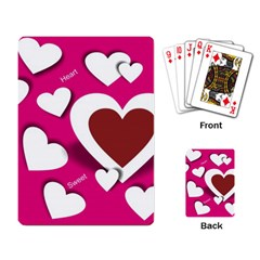 Valentine Hearts  Playing Cards Single Design
