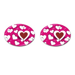 Valentine Hearts  Cufflinks (oval)