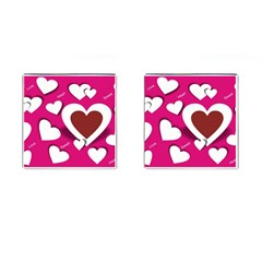 Valentine Hearts  Cufflinks (Square)
