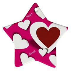 Valentine Hearts  Star Ornament (two Sides)