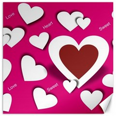 Valentine Hearts  Canvas 12  x 12  (Unframed)