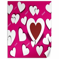 Valentine Hearts  Canvas 12  x 16  (Unframed)