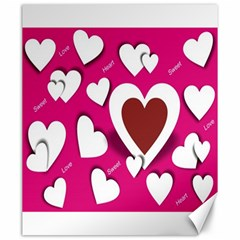 Valentine Hearts  Canvas 20  x 24  (Unframed)