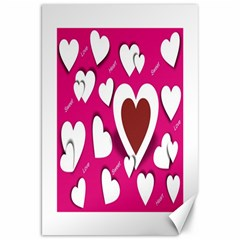 Valentine Hearts  Canvas 20  X 30  (unframed)