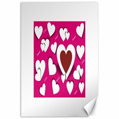 Valentine Hearts  Canvas 24  X 36  (unframed)