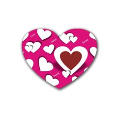 Valentine Hearts  Drink Coasters 4 Pack (Heart)