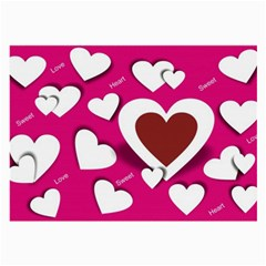 Valentine Hearts  Glasses Cloth (Large, Two Sided)
