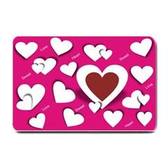 Valentine Hearts  Small Door Mat