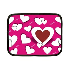 Valentine Hearts  Netbook Sleeve (Small)