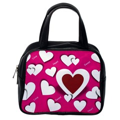 Valentine Hearts  Classic Handbag (One Side)