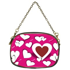 Valentine Hearts  Chain Purse (one Side)