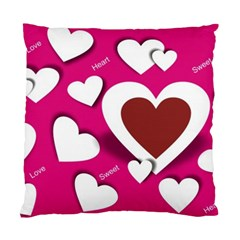 Valentine Hearts  Cushion Case (Single Sided)