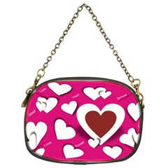 Valentine Hearts  Chain Purse (Two Sided)
