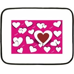 Valentine Hearts  Mini Fleece Blanket (Two Sided)