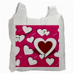 Valentine Hearts  Recycle Bag (One Side)