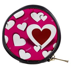 Valentine Hearts  Mini Makeup Case