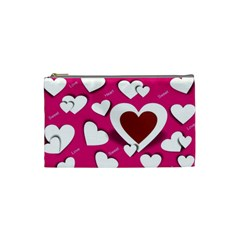 Valentine Hearts  Cosmetic Bag (Small)