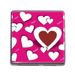 Valentine Hearts  Memory Card Reader with Storage (Square)