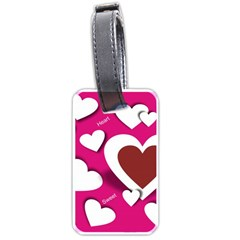Valentine Hearts  Luggage Tag (one Side)