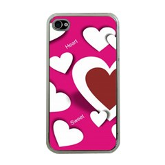 Valentine Hearts  Apple iPhone 4 Case (Clear)