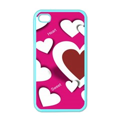Valentine Hearts  Apple iPhone 4 Case (Color)
