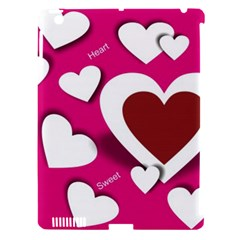 Valentine Hearts  Apple iPad 3/4 Hardshell Case (Compatible with Smart Cover)