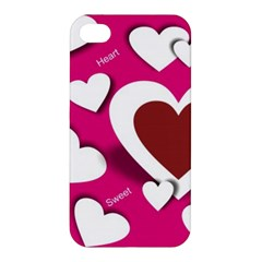 Valentine Hearts  Apple Iphone 4/4s Premium Hardshell Case