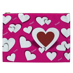 Valentine Hearts  Cosmetic Bag (XXL)