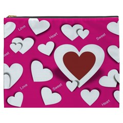 Valentine Hearts  Cosmetic Bag (XXXL)