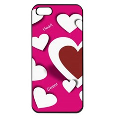 Valentine Hearts  Apple iPhone 5 Seamless Case (Black)