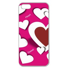 Valentine Hearts  Apple Seamless iPhone 5 Case (Clear)