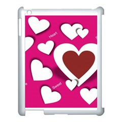 Valentine Hearts  Apple iPad 3/4 Case (White)