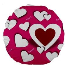 Valentine Hearts  18  Premium Round Cushion