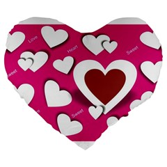 Valentine Hearts  19  Premium Heart Shape Cushion