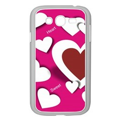 Valentine Hearts  Samsung Galaxy Grand DUOS I9082 Case (White)