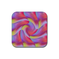 Colored Swirls Drink Coaster (square)
