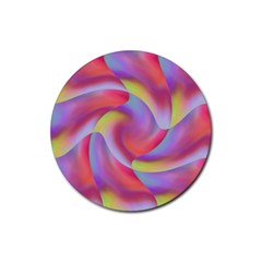 Colored Swirls Drink Coasters 4 Pack (round)