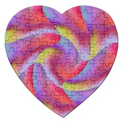 Colored Swirls Jigsaw Puzzle (Heart)